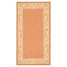 Safavieh Outdoor Rug Violetta Rectangle 2 7 X 5 Outdoor Rug Terracotta