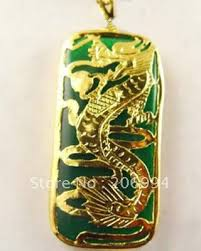 dragon jade necklace pendant images Real stone jewelry green green stone dragon pendant necklace free jpg