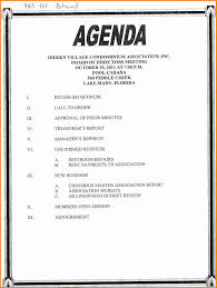 Formal Meeting Agenda Template by 11 Agenda Template Word Cashier Resume