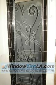 frosted and decorative films for your bathroom shower door
