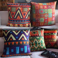 taie d oreiller pour canapé ethniques motifs géométriques coton taie d oreiller pour canapé
