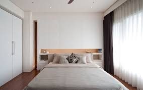 headboard with built in bedside tables nightstands that complete the room with their uniqueness