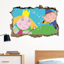ben and holly day in wall crack decal sticker wall art kids gift ben and holly day in wall crack decal sticker wall art kids gift bedroom xmas