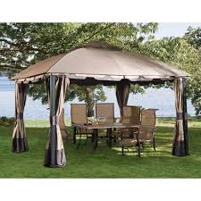 Portable Gazebo Walmart by Outdoor Sunjoy Royal Hardtop Gazebo Screened In Gazebo Sunjoy
