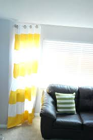 grey white and yellow curtains yellow walls black and white