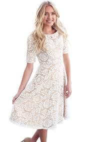 white lace dress sloan modest bridesmaid lace dress in white w lining