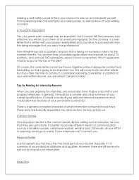 cover letter important how to write impressive resume and cover letter