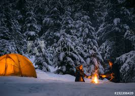 cing with cfire and tent outdoors in winter buy this