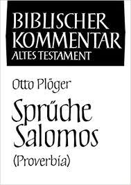 sprüche salomos sprüche salomos biblischer kommentar biblischer kommentar altes