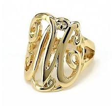 Monogram Initial Ring Jewelry Details Designs