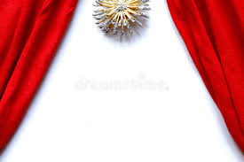 red curtains theatre stage white background stock photo image