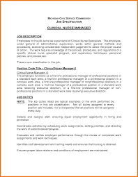 Job Description Resume Nurse by Cna Job Description Duties For Resume Free Resume Example And