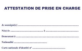 Lettre De Demande De Visa En Anglais attestation de prise en charge demande visa alg礬riens