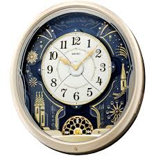 melodies in motion kaliedoscope musical wall clock seiko clocks