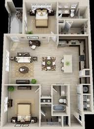 3 Bedroom Apartments Floor Plans 50 Three U201c3 U201d Bedroom Apartment House Plans Breakfast Bars