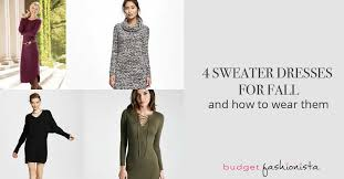 4 sweater dresses for fall and how to wear them