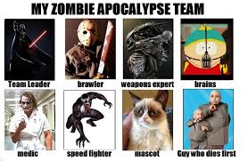 Zombie Team Meme - zombie parent s guide food supply and team for the inevitable