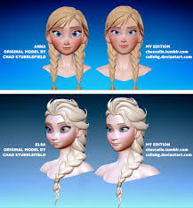 frozen anna elsa models redesign cellebg deviantart