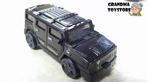 black military jeep unboxing toys review demos tomica black military humvee jeep