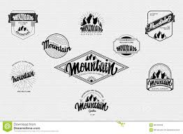 Print On Business Cards Mountain Adventure And Expedition Insignia Badges It Can Be Used