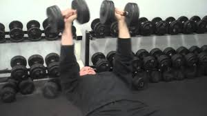 dumbbell bow and arrow bench press exercise youtube