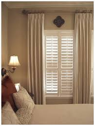 Bedroom Blinds Ideas Beautiful Wood Blinds Complemented With Neutral Drapes A