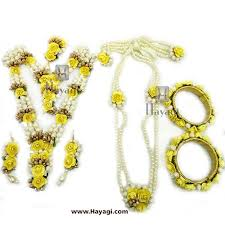 yellow necklace set images Floral flower jewelry set yellow color necklace hayagi jpg