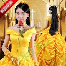 Beauty Beast Halloween Costumes Aliexpress Buy Princess Belle Costume Beauty Beast