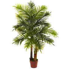 nearly natural areca palm tree in pot products pinterest