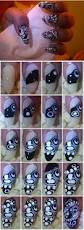 white and black dotted nail art entry simple nail art tips
