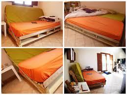 clic clac pallet sofa bed pallets pallet sofa and mattress