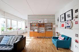 modern vintage home decor ideas modern retro home decor for living area using blue and black sofa
