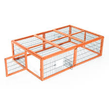 Large Rabbit Hutch With Run Pawhut Wooden Rabbit Hutch Poultry Cage Aosom Ca