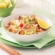 cuisiner quinoa salade de quinoa et tofu grillé à l érable soupers de semaine