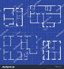 set floor plans blueprints vector unfurnished stock vector