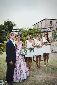wedding dress garden party a floral wedding gown for a rustic style summer garden party