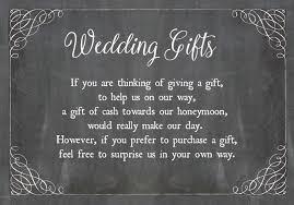wedding gift money poem chalkboard wedding gift wish card from 0 40 each