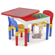 Plastic Tables And Chairs Tot Tutors 2 In 1 Plastic Building Block Compatible Activity Table