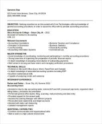 Sample Resume For An Accountant by 24 Accountant Resume Templates In Pdf Free U0026 Premium Templates