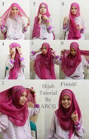 tutorial memakai jilbab paris yang simple cara mudah memakai jilbab segi empat cantik