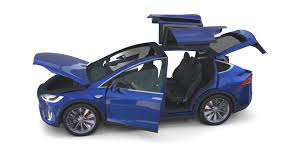 suv tesla blue tesla model x blue with interior by dragosburian 3docean