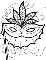 free printable mardi gras coloring pages for kids in mask eson me