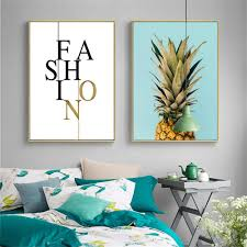 Nordic Decoration Compare Prices On Pineapple Painting Online Shopping Buy Low
