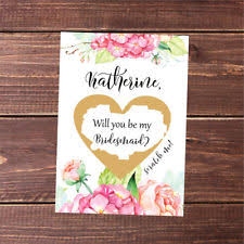 asking bridesmaids cards bridesmaid scratch lotto replica will you be my