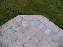 Cutting Patio Pavers Paver Brick Patio With Cut Corners Terracarelandscape Net