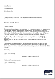 Letter Of Intent Sample by Writing Your Landlord A Letter Of Notice