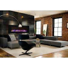 wall mount electric fireplace heater mahogany mounted with remote