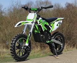 electric motocross bike uk new xtreme 36 500w xtm dirt bike in green with lithium batteries