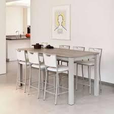 tables hautes cuisine table cuisine haute table moderne avec rallonge trendsetter