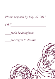 Wedding Invitation Reply Cards Vintage Plum Rose Elegant Wedding Invitation Cards Online Ewi142